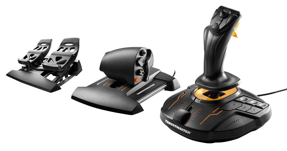 Thrustmaster T.16000M FCS Flight Pack : Joystick, Manette des Gaz et Palonnier - Pack complet pour les amateurs de simulation de vol - PC product image