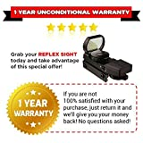 GERO-Tactical-Green-and-Red-Dot-Sight-4-Reticles-Reflex-Sight-with-Built-in-Weaver-Picatinny-Rail-Mount-for-22mm-Rail-Base-Water-Resistant-Shockproof-Lightweight-with-Adjustable-Brightness