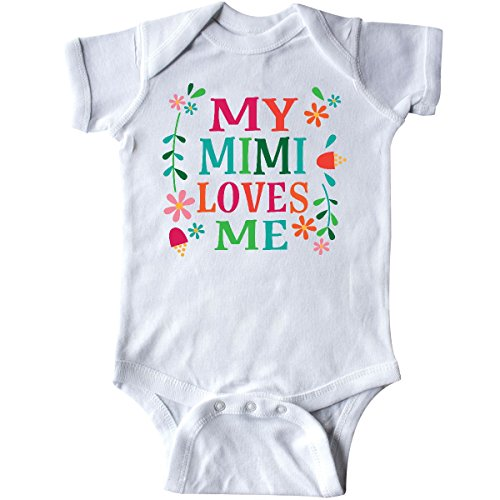 inktastic - My Mimi Loves Me Girls Outfit Infant Creeper 6 Months White 2c794 -