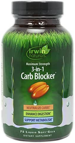 3-in-1 Carb Blocker Irwin Naturals, 75 Count