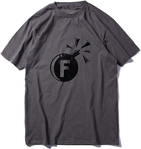 WEFAAS Camisetas 100% Algodón Camiseta con Estampado De Bomba De Hombre Fresco Camiseta Casual De Manga Corta para Hombre Camiseta con Cuello O Camiseta De Verano, M: Amazon.es: Deportes y aire libre