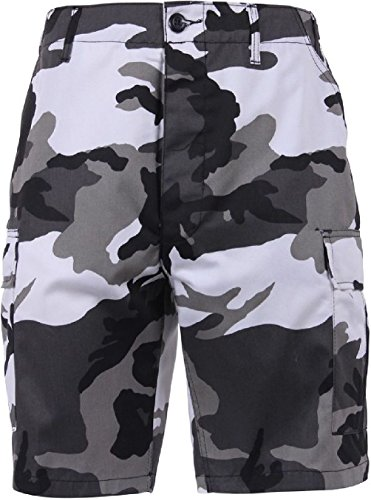 Bellawjace Clothing City Camo Camouflage Military BDU Combat Cargo Camo Army Shorts