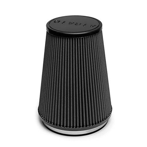 Airaid 702-469 Universal Clamp-On Air Filter: Round Tapered; 6 in (152 mm) Flange ID; 9 in (229 mm) Height; 7.5 in (191 mm) Base; 5 in (127 mm) Top