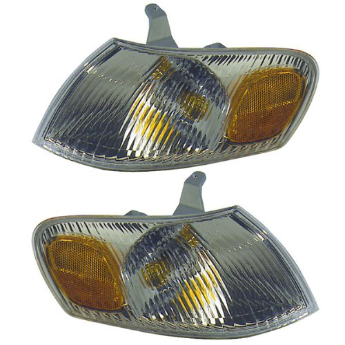 1998-1999-2000 Toyota Corolla Park Corner Light Turn Signal Marker Lamp (Light Lamp Pair Set)