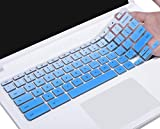 Keyboard Cover Compatible with 2019/2018 Lenovo Chromebook C330 11.6 / Flex 11 Chromebook/Chromebook N20 N21 N22 N23 100e 300e 500e 11.6'/Chromebook N42 N42-20 14 inch Chromebook, Ombre Blue