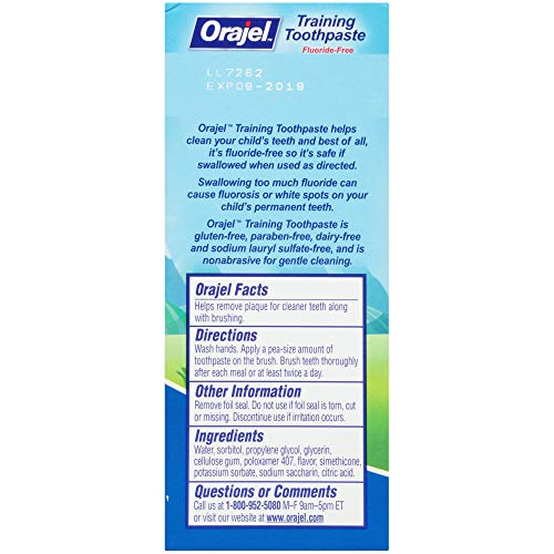 51 2GFiyfkL - Orajel Paw Patrol Fluoride-Free Training Toothpaste, Fruity Fun Flavor, One 1.5oz Tube: Orajel #1 Pediatrician Recommended Brand For Kids Non-Fluoride Toothpaste