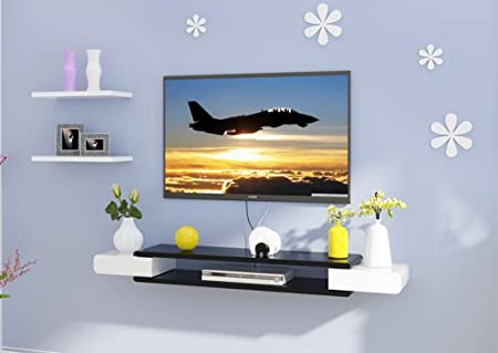 fgsgj tv cabinet set top box shelves living room tv wall rh amazon co uk Built Ins around Fireplace Floating Shelves Ideas