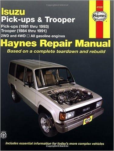 Isuzu Trooper 84 91 Pickup 81 93 Haynes Repair Manuals 1st Edition By Haynes John 1990 Paperback Amazon Com Books