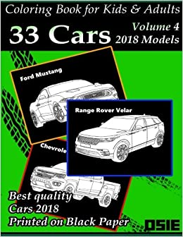 coloring book for kids adults cars 2018 supercars streetcars pickups trucks cars coloring book cars coloring books package volume 1