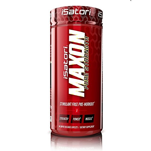 Caplets Stimulant - iSatori Maxon Pure Strength Stimulant Free Pre Workout with Fenugreek - Maximize Strength for Exercise, Sports and Weight Lifting - Dietary Supplement - 84 Rapid Release Caplets