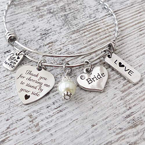 Bride Gift for Bridal Shower, Gift for Bride from Maid of Honor, Thank You for Choosing Me, Love