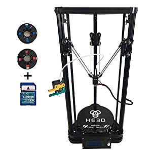 He3D K200 single head delta DIY 3d printer kit with heat bed- support multi material filament by HE3D