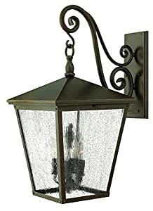 Hinkley 1438RB-LED Traditional One Light Wall Mount from Trellis Collection in Bronze/Darkfinish,