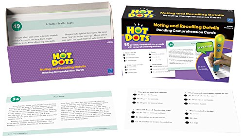 Educational Insights Hot Dots Reading Comprehension- Noting And Recalling Details (Comprehension Paragraph Reading)