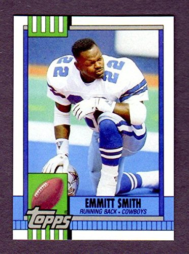 Emmitt Smith 1990 Topps Traded Football ROOKIE Reprint Card with Original Back (Dallas Cowboys) by Topps