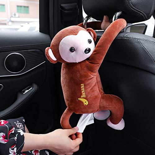 Retrofish Cartoon Cute Monkey Stuffed Toys Tissue Dispenser - 2 in 1 Sleeping Plush Pillow & Napkin Paper Box Facial Tissue Holder for Home Office Car Automotive Decoration