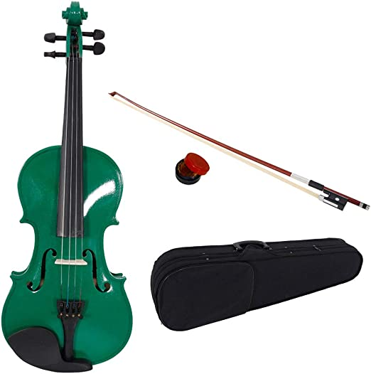 New Student Band 4//4 Acoustic Orchestral Violin Fiddle Black with Case Bow Rosin