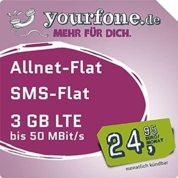 Yourfonede Lte L Monatlich Kündbar O2 Netz Amazonde Elektronik