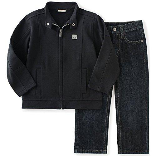 Zip Front Denim Pants - 3