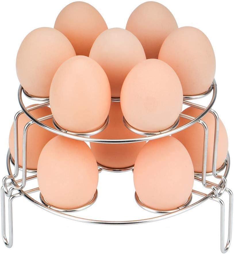 GLQ Estante para vaporizador de Huevos multipropósito: Estuche para vaporizador de Huevo apilable/para Accesorios de Olla instantánea - Se Adapta a la Olla a presión Instant Pot 5/6/8 Qt.: Amazon.es: Hogar