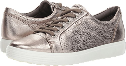 ECCO Women's Soft Perforated Fashion Sneaker, Warm Grey, 38 M EU (7-7.5 US)