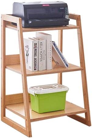 Jcnfa-Estante Estante para Libros Marco De Bambú Estante De La Escalera Almacenamiento Multiusos Gabinete De Estanteria De Unidad Mejoras para El Hogar Estantes De Cocina: Amazon.es: Hogar