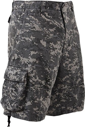 Camouflage Vintage Military Infantry Utility Cargo Shorts ()