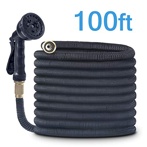 CACAGOO Garden Hose, 100 FT Durable Water Hose, Extra Strength Fabric - Improved Expanding Hose No Kink