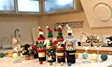 FEFEHOME Christmas Wine Bottle Cover Gift Warping Ugly Sweater (Set of 4) -(F)