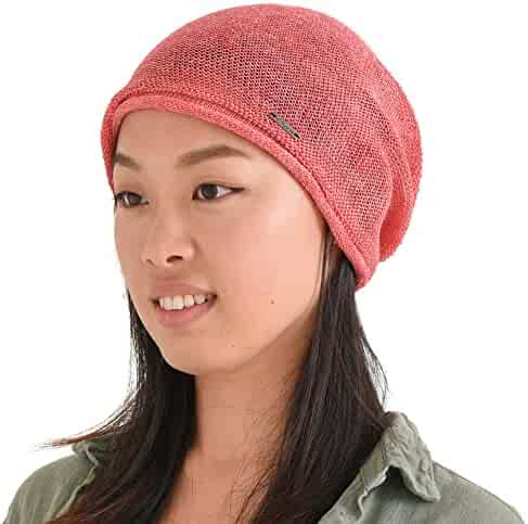 a0040ac0cc2909 CHARM Casualbox | Slouchy Hemp Beanie Summer Baggy Cap Cooling Knit Hat  Unisex Men Women