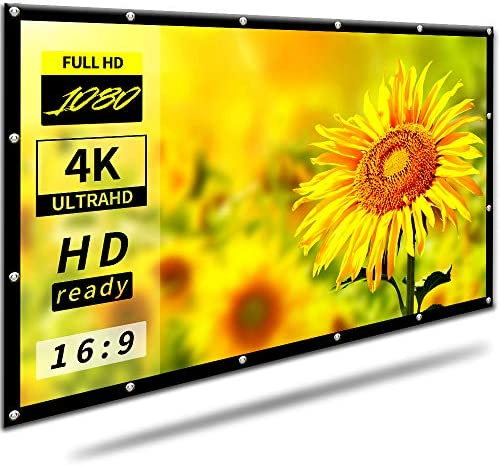 16:9 HD 100 inch Foldable Projector Display screen for Residence Yard Theater Out of doors Indoor |Anti-Crease Transportable Projector Motion pictures Display screen Assist Double Sided Projection(Rear Projection Display screen)