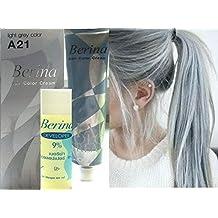 Hair Colour Permanent Hair Cream Dye Light Ash Grey by Berina