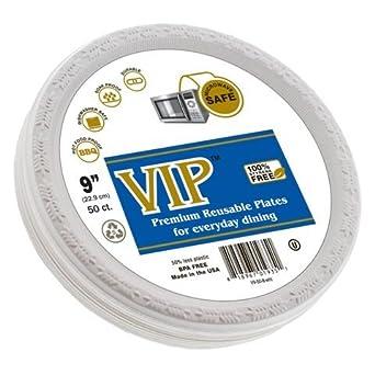 Amazon.com: Platos (TM) VIP – Platos desechables (plástico 9 ...