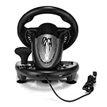 Racing Games Steering Wheel Universal Game Driving Simulator for PC,PlayStation 4, PlayStation 3 and Xbox One