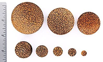 Price Per 1 Organic Body Jewelry 4mm up to 51mm Coconut Solid Wood Plug