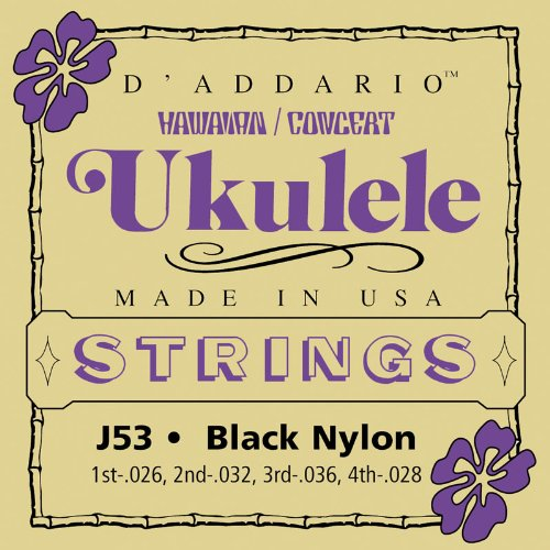D'Addario J53 Ukulele Strings, Hawaiian-Concert