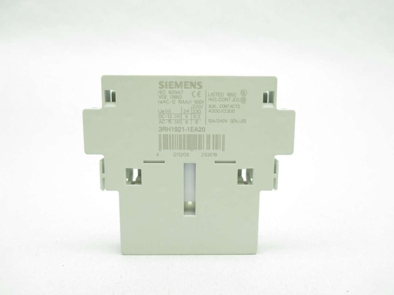 Siemens Sirius 3r Block Hilfskontakt 2 Na S0 S3 Baumarkt