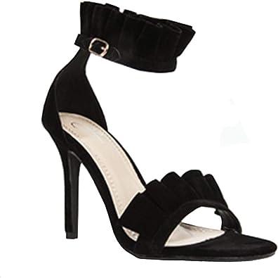 black open toe heels amazon
