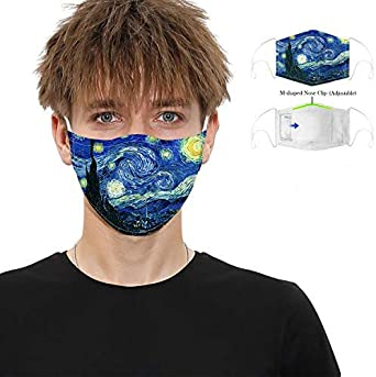 Face Visor Safety Replacement 5 Layer Adjustable Protective Washable for Unisex Men Women