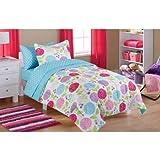 MS Twin/Full Comforter Set, (Garden Bed in a Bag + Handi Wipes, Twin)