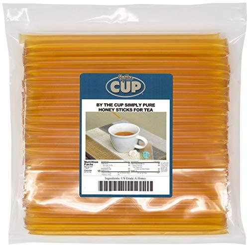 (By The Cup Simply Pure Honey Sticks for Tea - 100 Honey Straws, 100% Pure Honey)