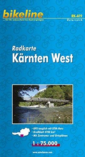 Radkarte Österreich. 1 100000  Bikeline Radkarte Kärnten West . 1   75.000. Bl. 19 GPS Tauglich Mit UTM Netz