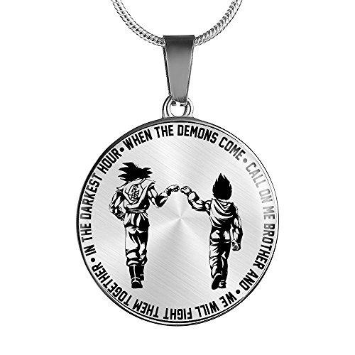 to My Brother Pendant Jewelry - Son Goku and Vegeta, Dragon Ball Super, We Will Fight Them Together - Birthday Gifts for Men, Brother, Friends