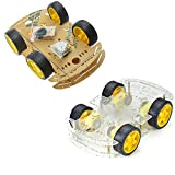 Diymore 4 Wheels Robot Smart Car Chassis DIY Kits Car Model with Speed Encoder for Arduino