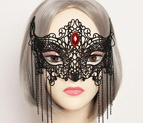 Party Mask Sexy Charming Lady Mask Masquerade Halloween Costume Accessory By Guardians (model 3) (Couple Themed Halloween Costumes)