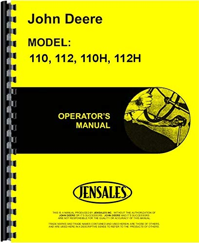 John Deere 112 Lawn and Garden Tractor Operators Manual