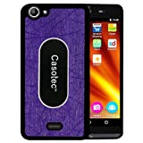 Casotec Metal Back TPU Back Case Cover for Micromax Bolt Q338 - Purple