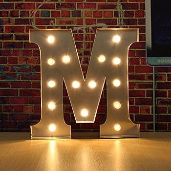 Amazoncom Decorative Light Up Wooden Alphabet LetterWONFAST