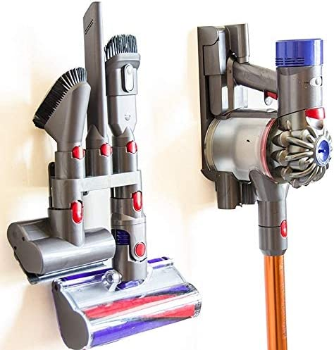 4 in 1ハンドツール交換ブラシキット掃除機 ダイソンV6 V7 V8 V9 V10掃除機ベースブラケット用ストレージブラケットホルダー