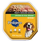 Pedigree Meaty Ground Dinner Chicken and Rice Dinner Net Wt 100.0 g (3.5 oz), Pack of 24, My Pet Supplies